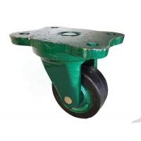چرخ چدنی سبز روکش لاستیک سایز 10 گردان
