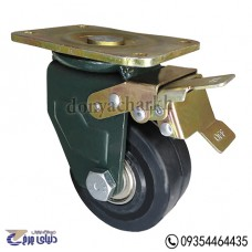 چرخ چدنی پایه آهنی سایز 100 ترمزدار