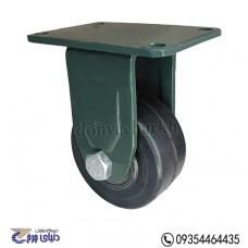 چرخ چدنی پایه آهنی سایز 100 ثابت