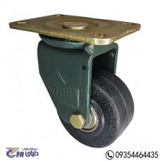 چرخ چدنی پایه آهنی سایز 100 گردان