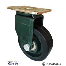 چرخ چدنی پایه آهنی سایز 130 گردان