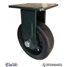 چرخ چدنی پایه آهنی سایز 160 ثابت