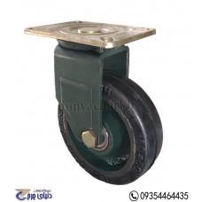 چرخ چدنی پایه آهنی سایز 160 گردان