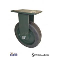 چرخ چدنی پایه آهنی سایز 200  ثابت