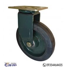 چرخ چدنی پایه آهنی سایز 200 گردان
