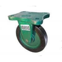 چرخ چدنی سبز روکش لاستیک سایز 20 ثابت