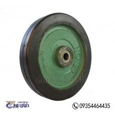 چرخ چدنی سبز روکش لاستیک سایز 25 تک