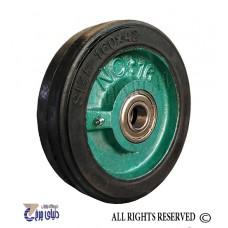 چرخ چدنی سبز روکش لاستیک سایز 16 تک