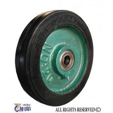 چرخ چدنی سبز روکش لاستیک سایز 20 تک