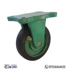 چرخ چدنی سبز روکش لاستیک سایز 16 ثابت