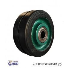 چرخ چدنی سبز روکش لاستیک سایز 10 تک