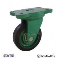 چرخ چدنی سبز روکش لاستیک سایز 13 گردان