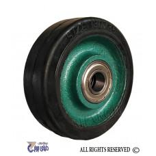 چرخ چدنی سبز روکش لاستیک سایز 13 تک